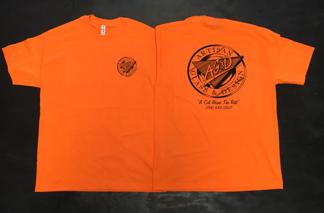 Safety Orange Men's T-Shirts